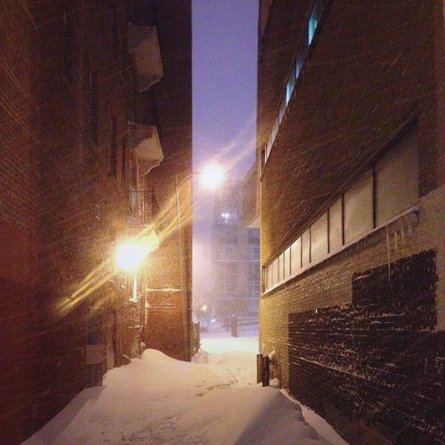 A Snowy Alley