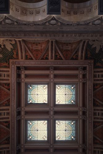 A detail from the ceiling in the Library of Congress' Jefferson Building.