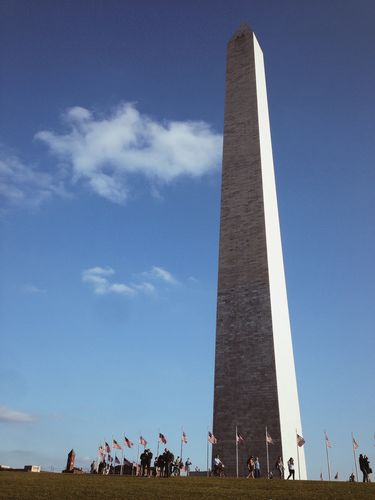 Washington's Monument on a Sunny Spring Day