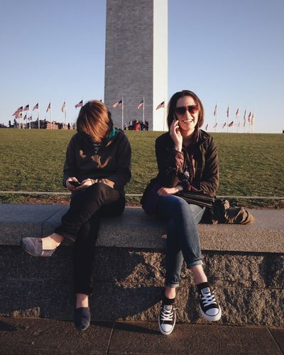 Diana and Samara at the Washington Monument