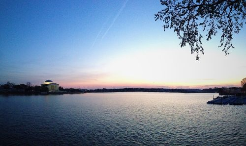 Jefferson Memorial and Tidal Basin at Sunset